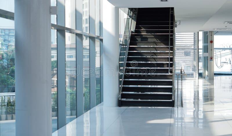 Modern building stair in sunlight business architecture concept. Modern building stair case in sunlight business architecture concept stock photography