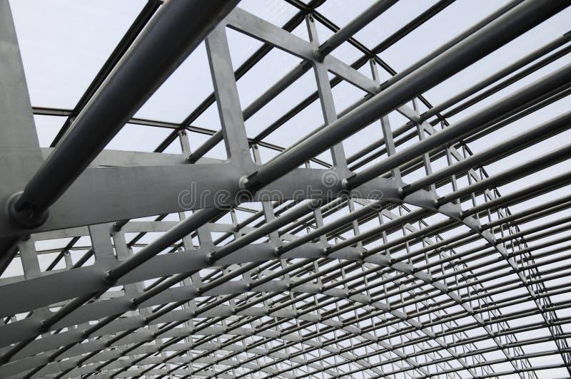 Modern building steel framework royalty free stock photo