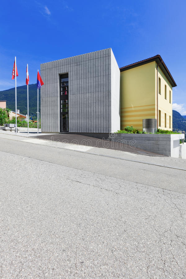 Modern building on the street royalty free stock image