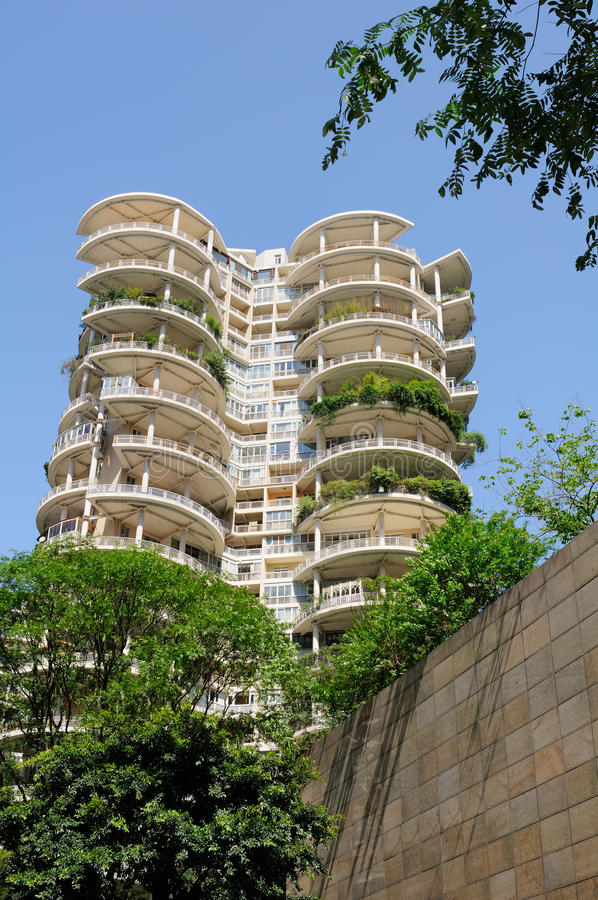 Modern building in summer