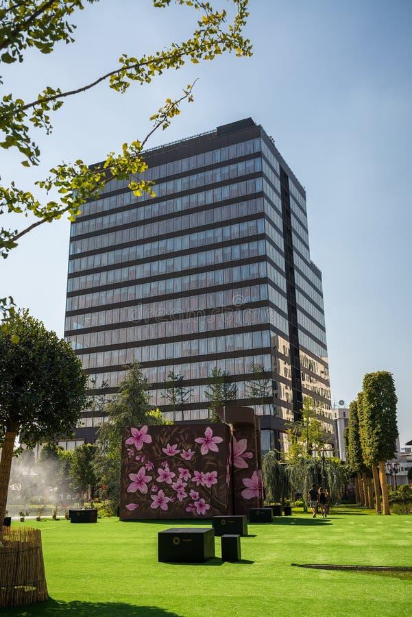 Modern building in Timisoara, Romania royalty free stock image