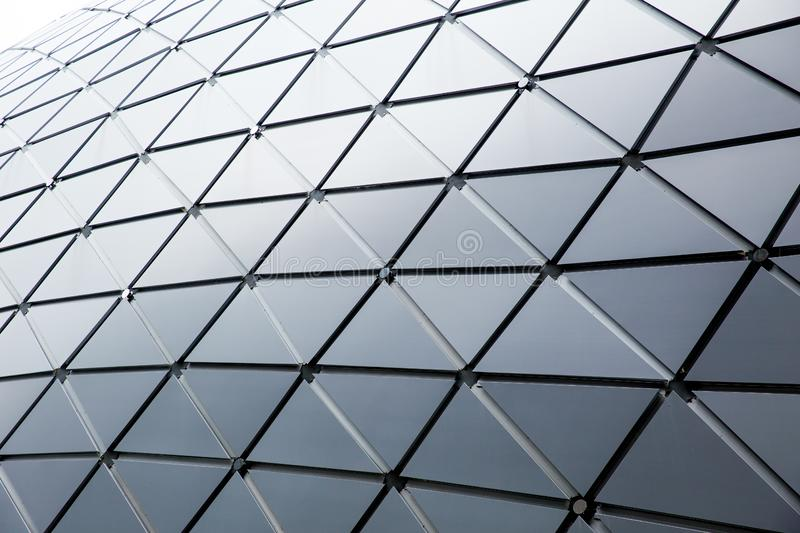 Modern building triangle geometry style roof design royalty free stock photos