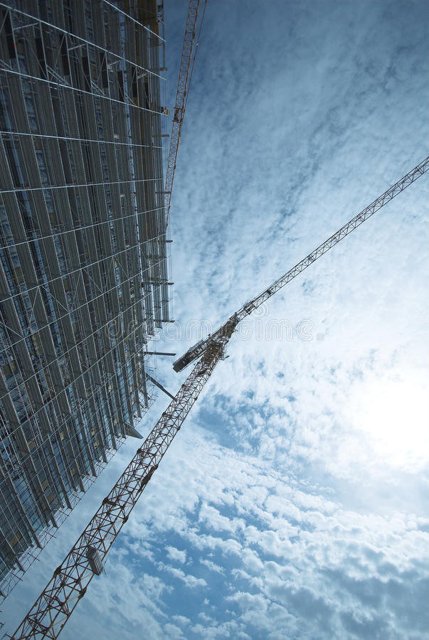 Free Modern Building Under Construction Stock Image - 12967691