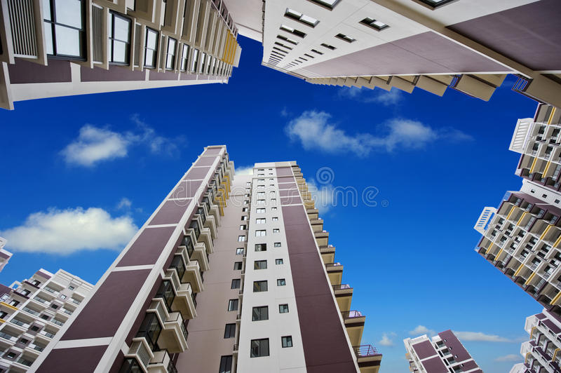 Download Modern buildings stock photo. Image of downtown, angle - 13315056