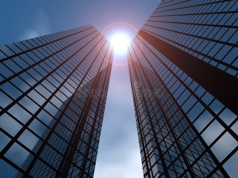 Modern buildings stock image