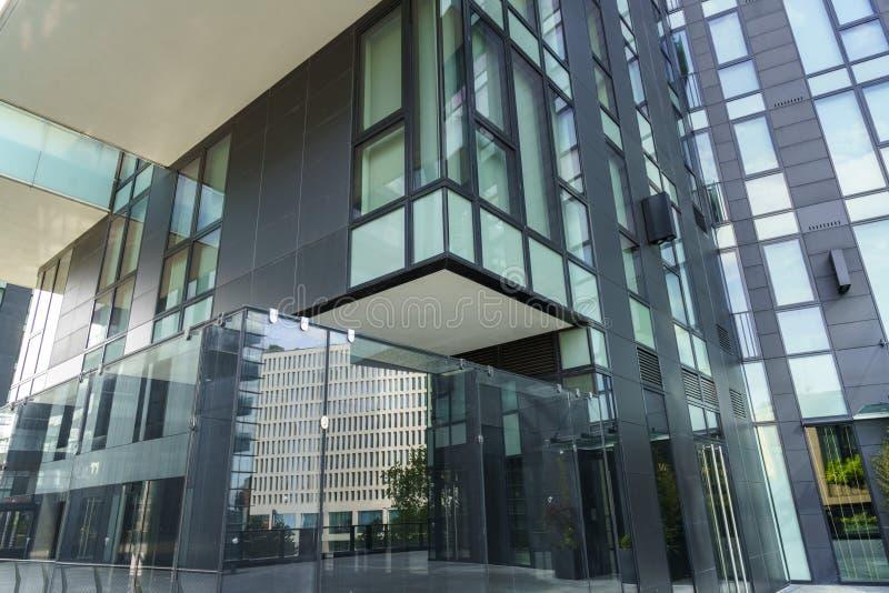 Modern buildings of Alvar Aalto square in Milan, Italy stock image