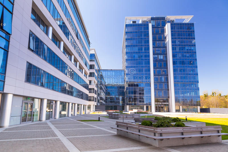 Modern Buildings Architecture Of Olivia Business Centre Editorial Stock Photo