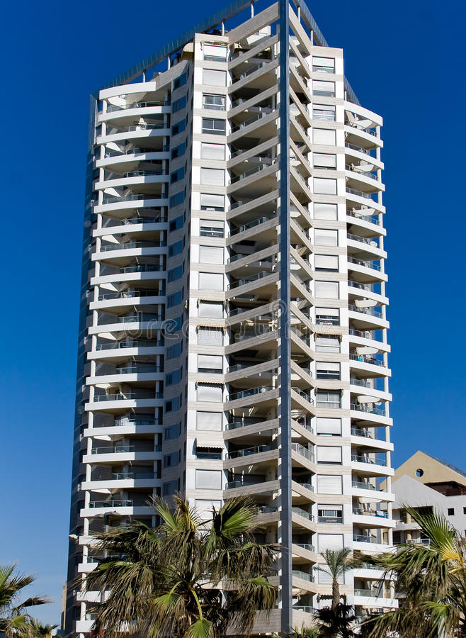 Modern buildings in Bat-Yam stock image