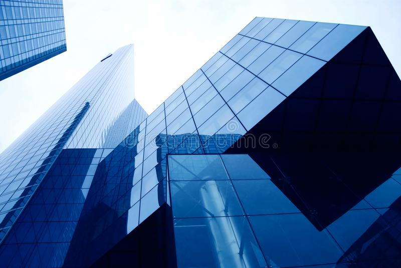 Modern buildings in the business district royalty free stock photo
