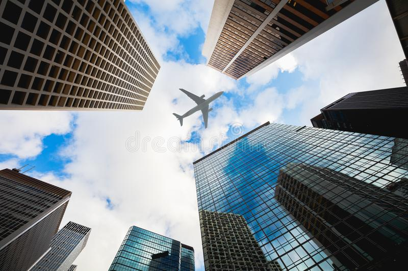 Modern buildings in central Hong Kong royalty free stock image