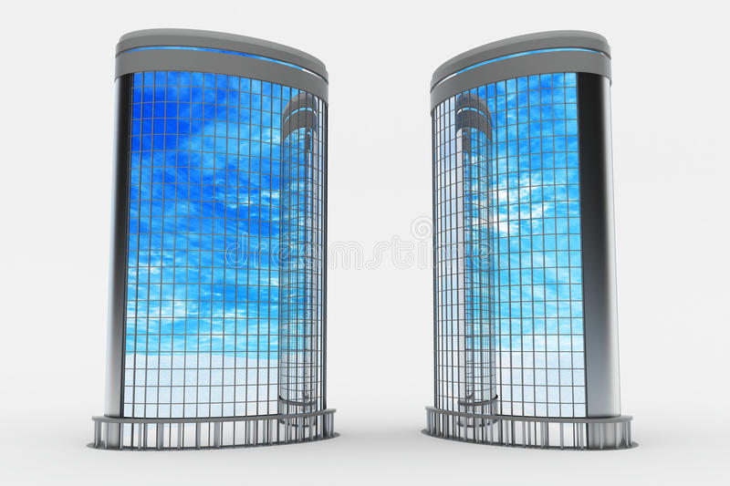 Modern Buildings, Curved Side Royalty Free Stock Photos