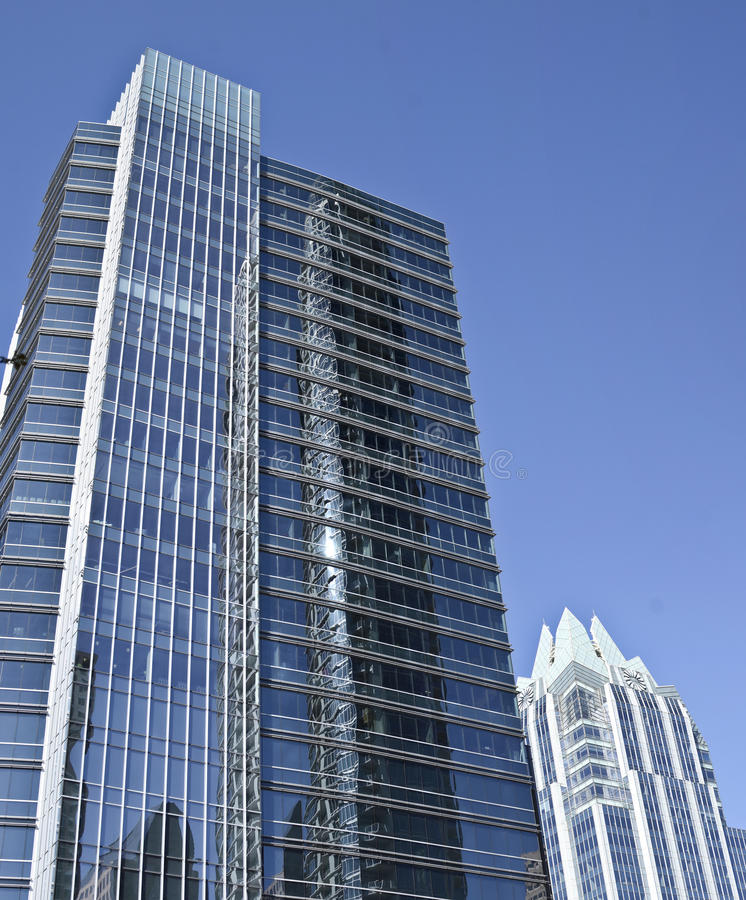 Modern buildings in downtown Austin. Texas royalty free stock photography