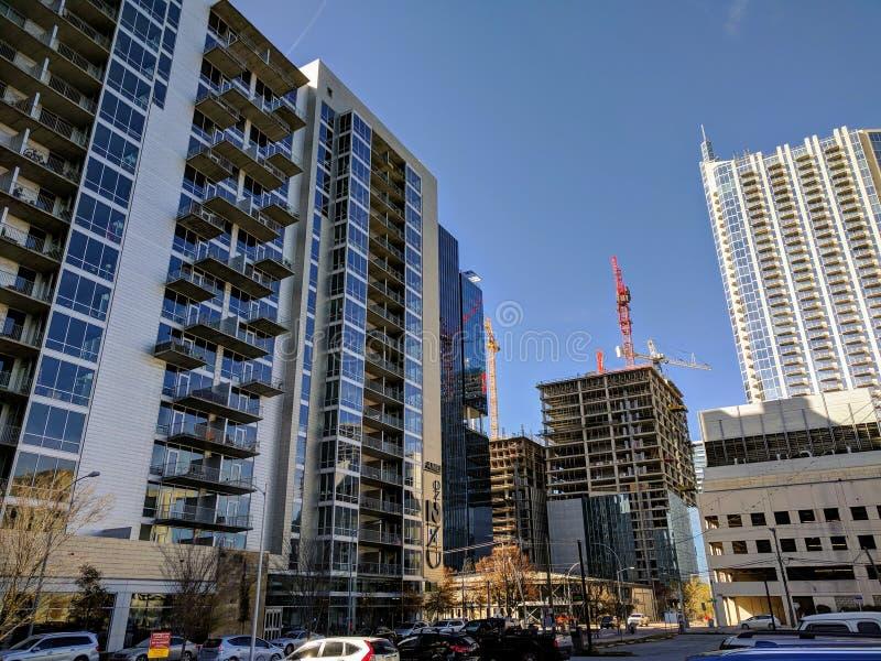 Downtown Austin Texas. Modern buildings in downtown Austin TX royalty free stock photo