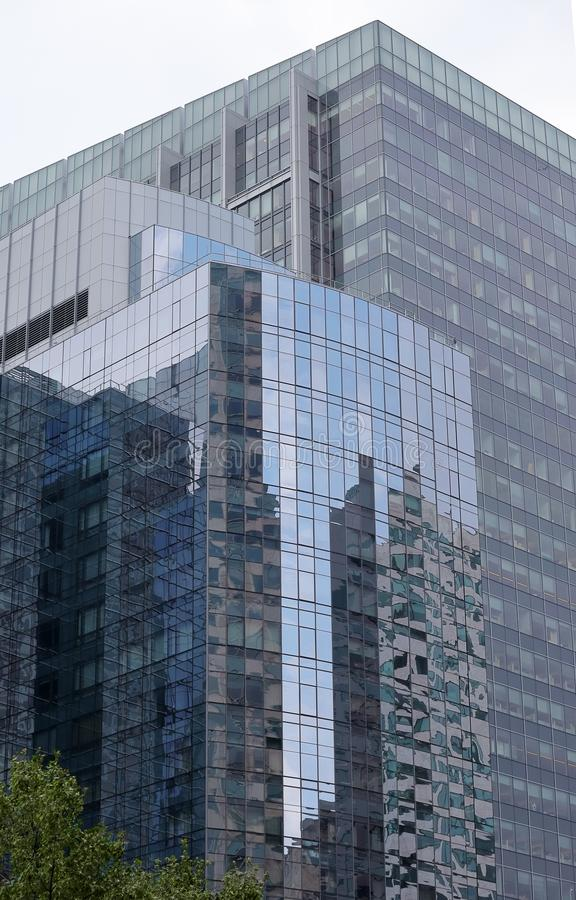 Modern buildings in downtown Boston stock photography