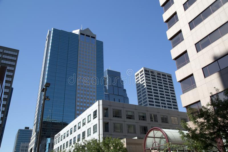 Modern buildings in downtown of city Kansas. Modern buildings in downtown Kansas, Missouri USA royalty free stock images