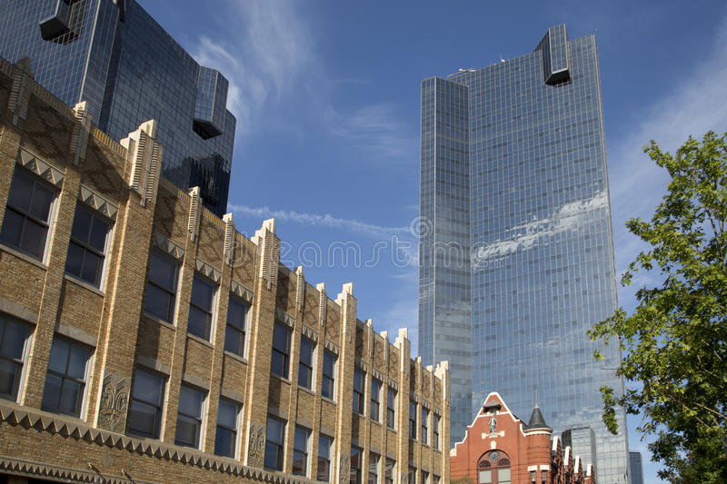 Modern buildings in downtown Fort worth. Nice modern buildings in downtown of city Fort Worth, TX USA stock photos