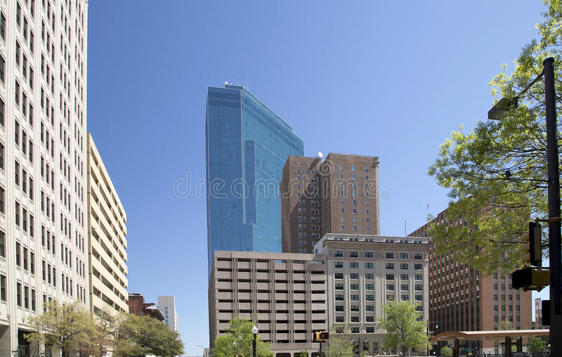 Modern buildings in downtown Fort Worth TX. Beautiful downtown of Fort Worth ,TX USA stock image