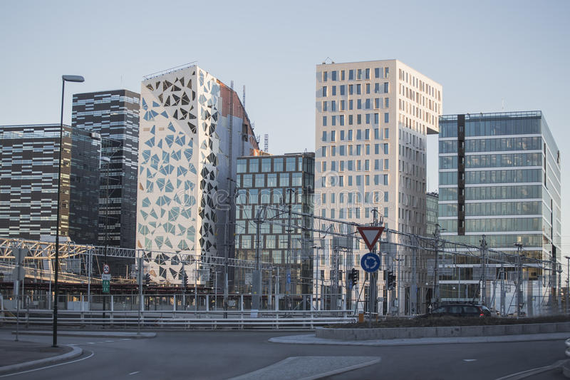 Download Modern Buildings In Downtown Oslo Stock Image - Image: 32123295