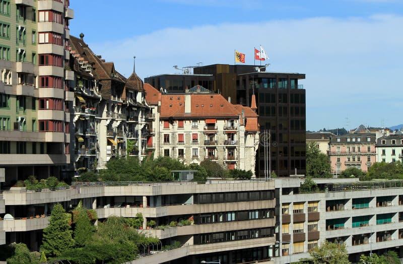 Modern buildings, Geneva, Switzerland stock image