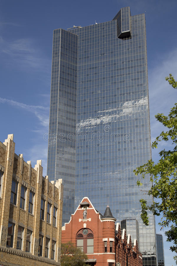 Modern buildings in nice city Fort worth royalty free stock images