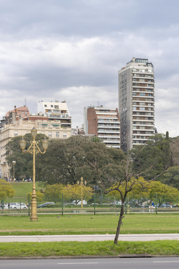 Modern Buildings and Park in Buenos Aires Argentina royalty free stock images