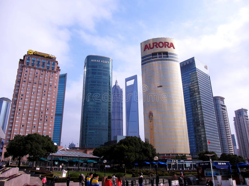 Modern buildings in Pudong stock photography