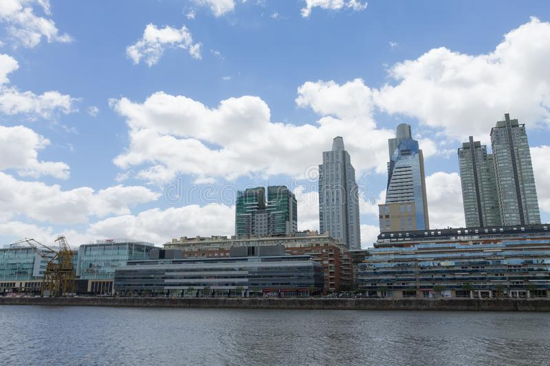 Modern buildings from Puerto Madero, Buenos Aires, Argentina. Landmark. Buenos Aires cityscape royalty free stock photography