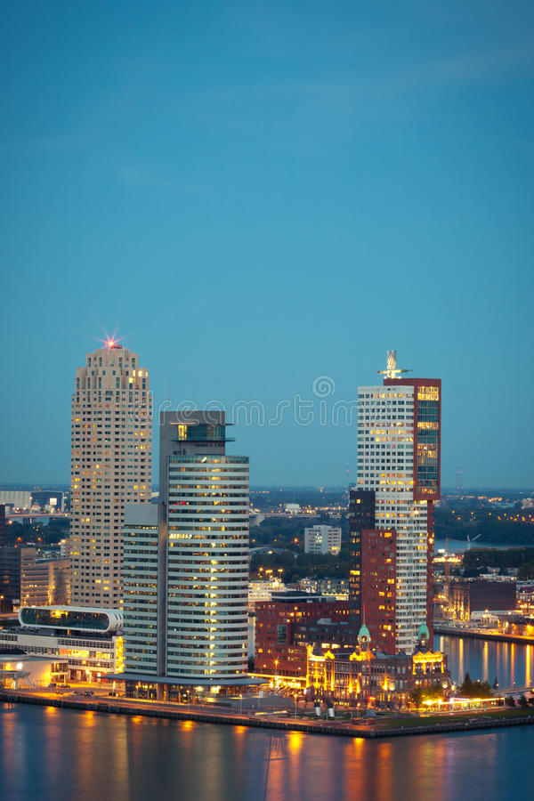 Modern buildings in Rotterdam, the Netherlands royalty free stock photography