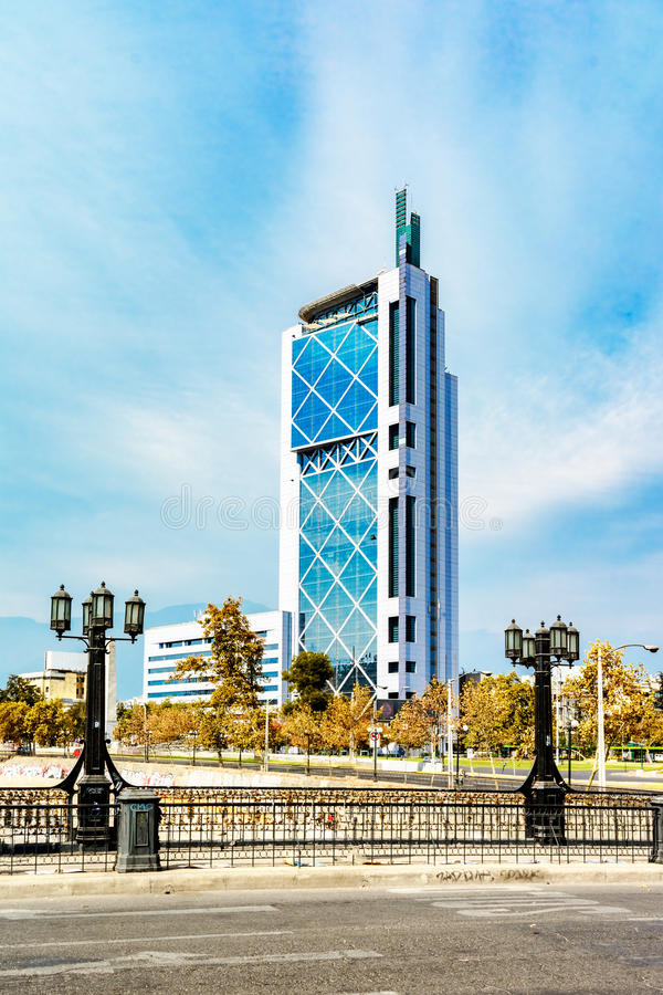 Modern buildings in Santiago de Chile stock image