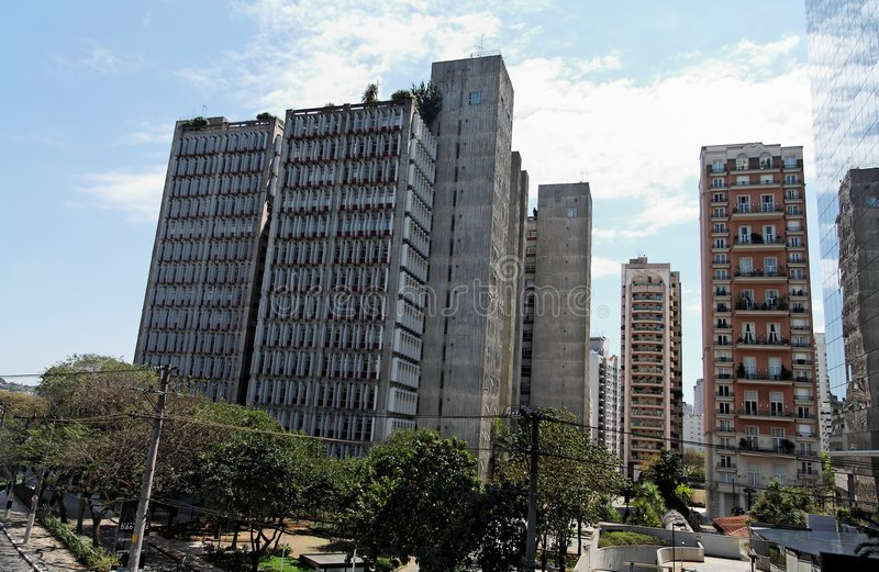 Modern Buildings in Sao Paulo stock images