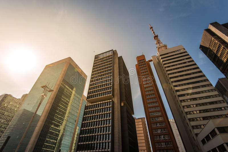 Modern Buildings in Sao Paulo City royalty free stock photo