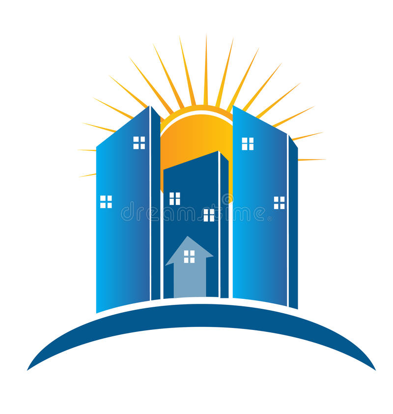 Download Modern Buildings With Sun Logo Stock Photography - Image: 29364202