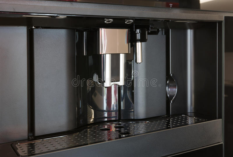 download modern built in espresso coffee machine stock photo image
