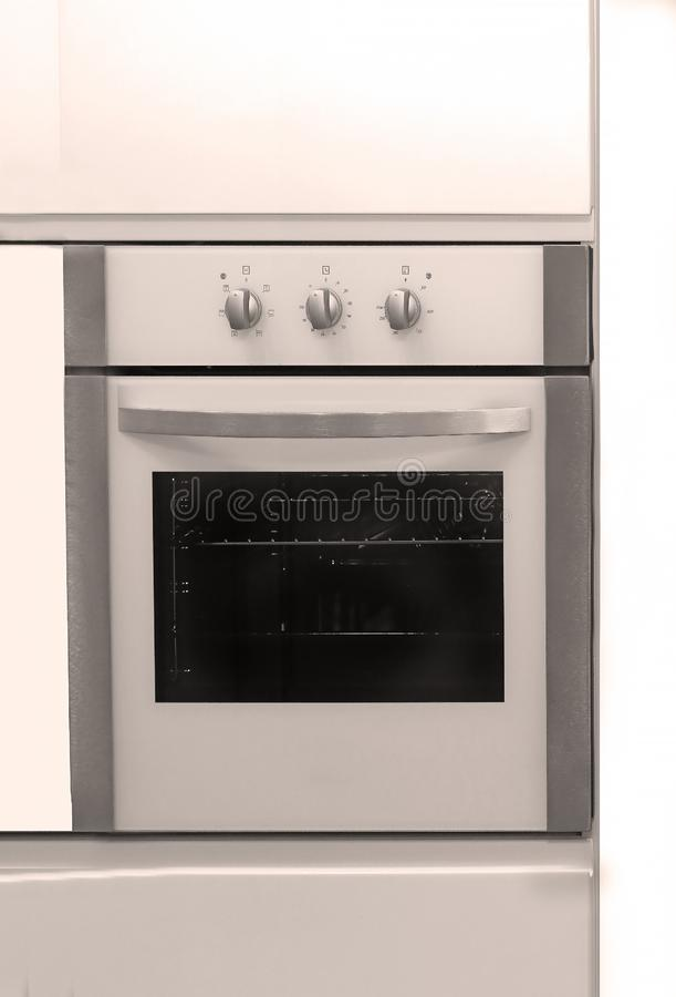 Modern built-in kitchen oven royalty free stock photos
