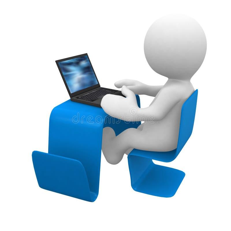 Modern bureau met laptop stock illustratie