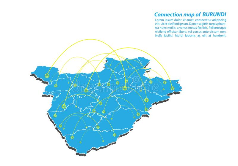 Modern of burundi Map connections network design, Best Internet Concept of burundi map business from concepts series vector illustration