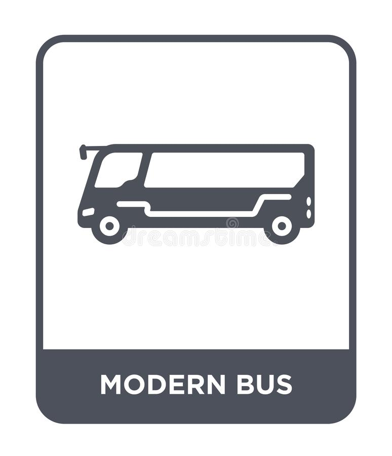 Modern bus icon in trendy design style. modern bus icon isolated on white background. modern bus vector icon simple and modern. Flat symbol for web site, mobile vector illustration