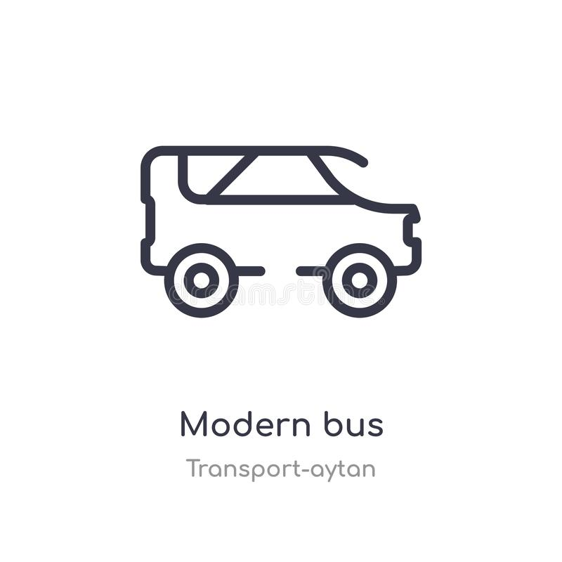 Modern bus outline icon. isolated line vector illustration from transport-aytan collection. editable thin stroke modern bus icon. On white background vector illustration