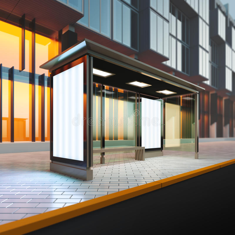 Free Modern Bus Stop. Stock Images - 71997404