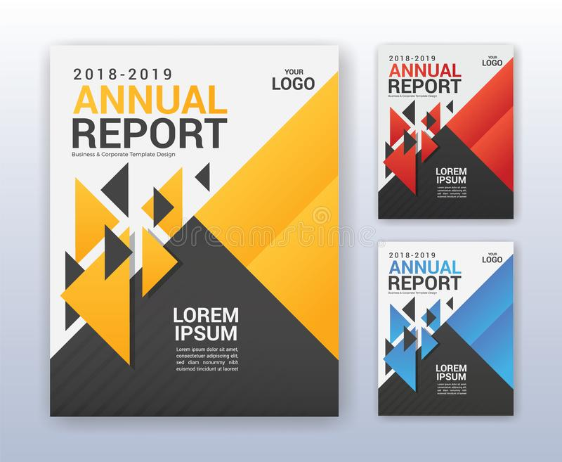 Modern business annual report template. Multipurpose flyter back. Ground. 8.5 x 11 inches print media royalty free illustration