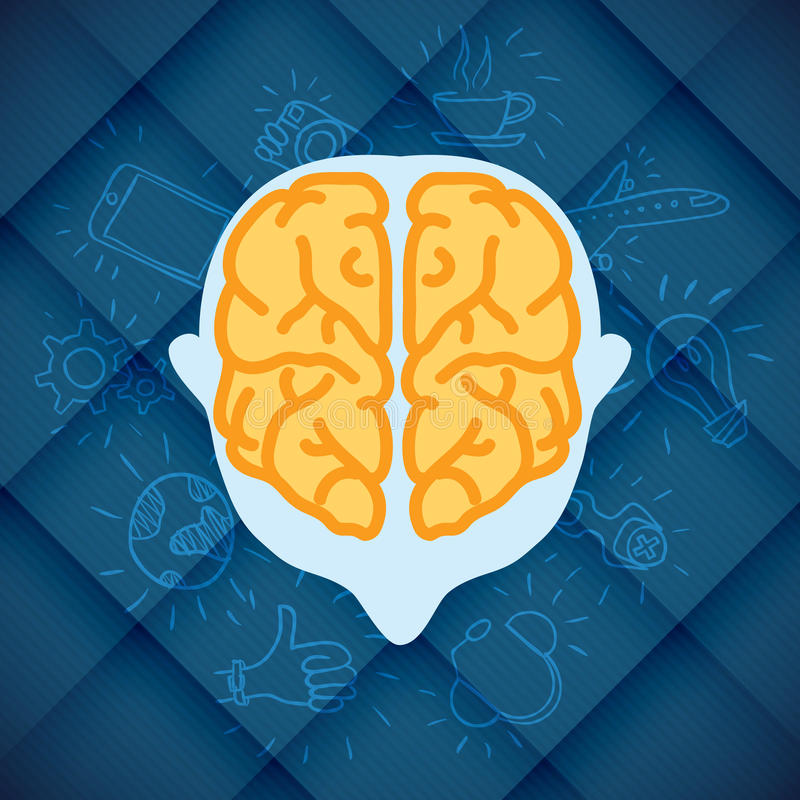 Modern Business Brain Concepts In Flat Design vector illustration