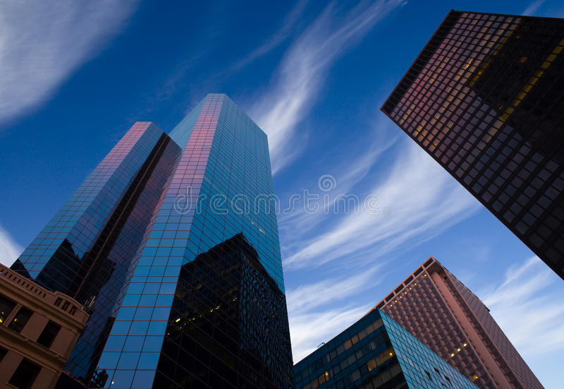 Modern business building. In New York royalty free stock images