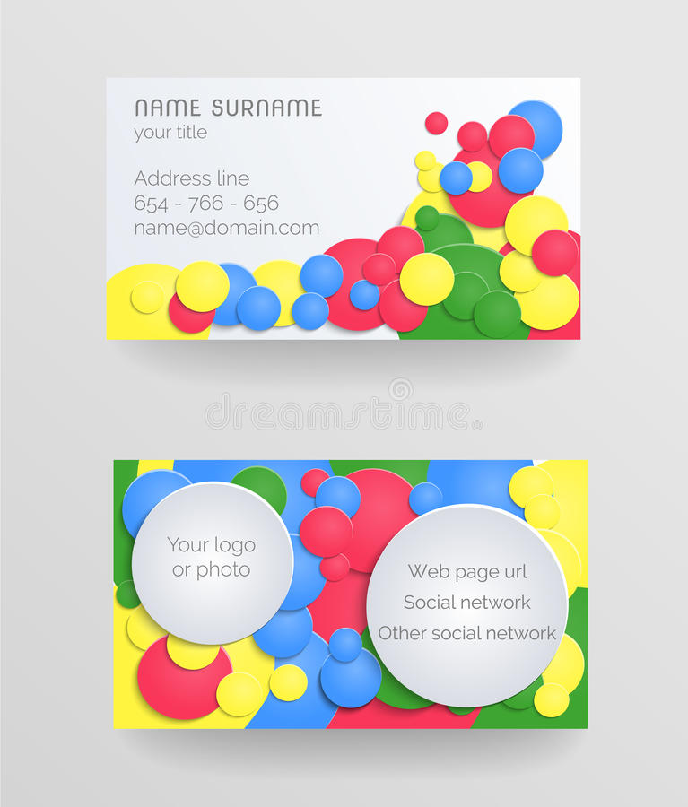 Download Business card stock vector. Illustration of yellow, green - 39506975