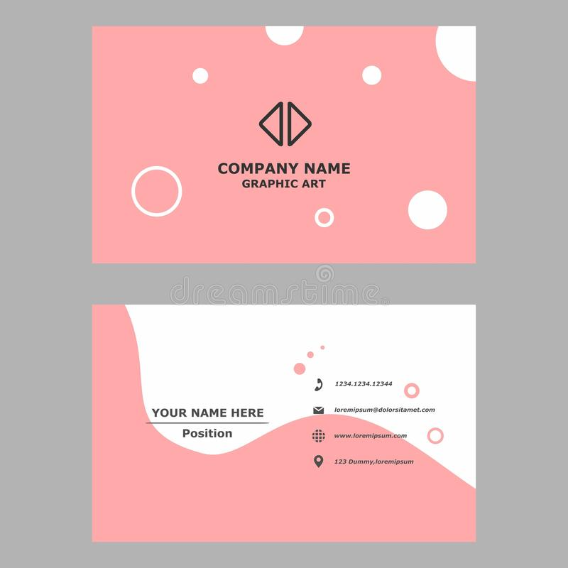 Modern business card.clean design template for professional,personal and company. stock illustration