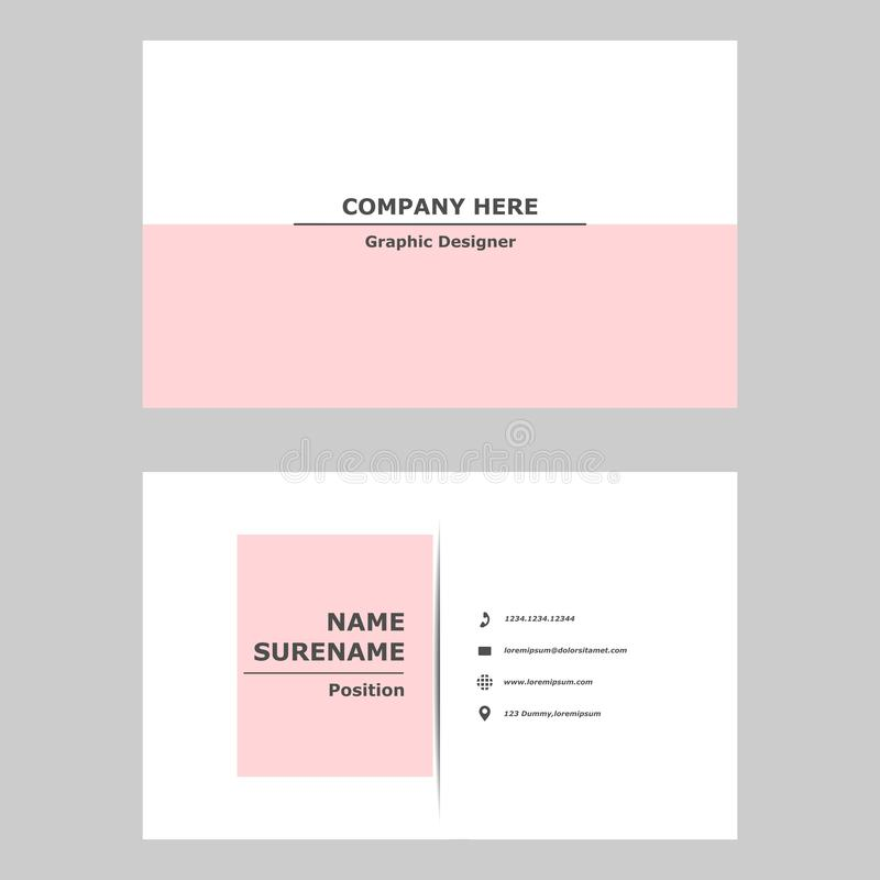 Modern business card.clean design template for professional,personal and company. royalty free stock image