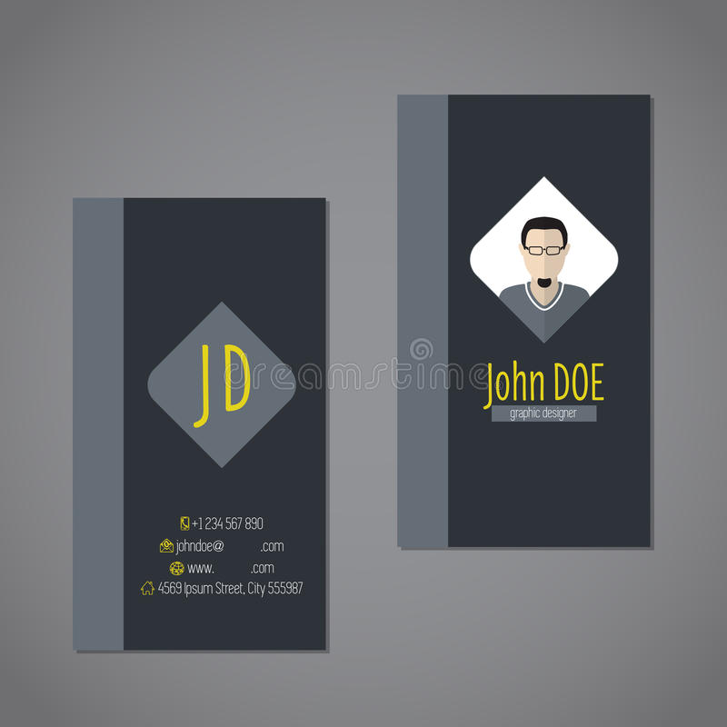 Modern business card with dark background royalty free illustration
