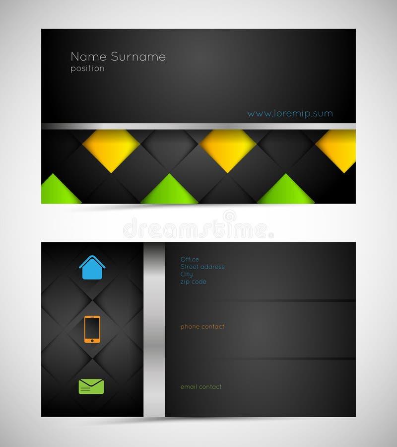 Modern business card stock illustration