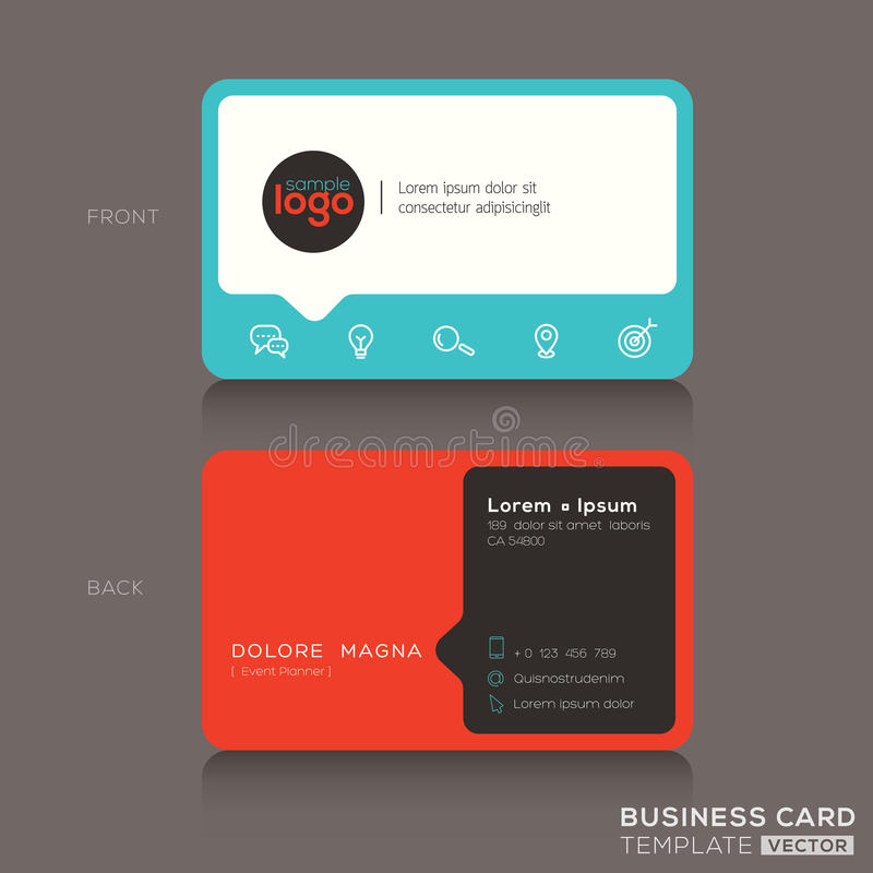 Modern Business Card Design Template Stock Vector - Illustration ...
