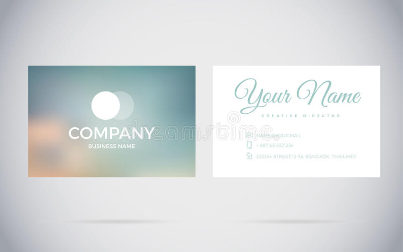 Modern business card design template stock vector illustration of download modern business card design template stock vector illustration of minimal bright 79436792 reheart Images