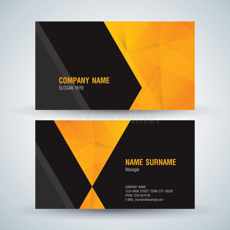 Modern business card. stock vector. Illustration of book - 98277613